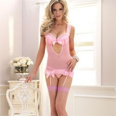 Leg Avenue 2 Piece Cami Garter and G-String
